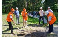 В урочище Благовщина начато возведение очередной части мемориального комплекса «Тростенец»