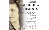 "Teaser zum Theaterstück ""Memoria nominis Clara"""